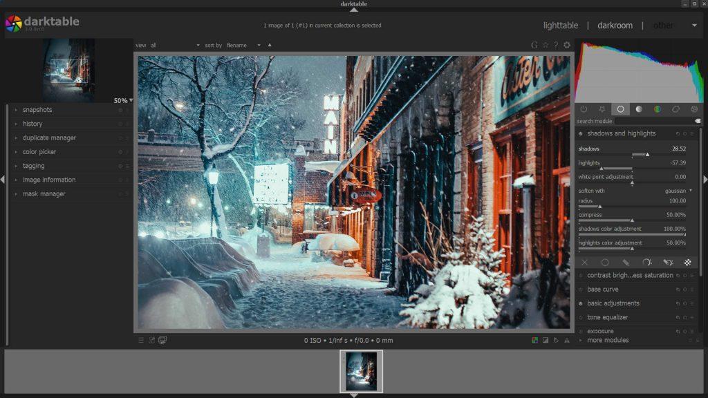 A DarkTable egy hatékony képszerkesztő eszközcsomagot kínál a RAW-fotók roncsolásmentes szerkesztéséhez