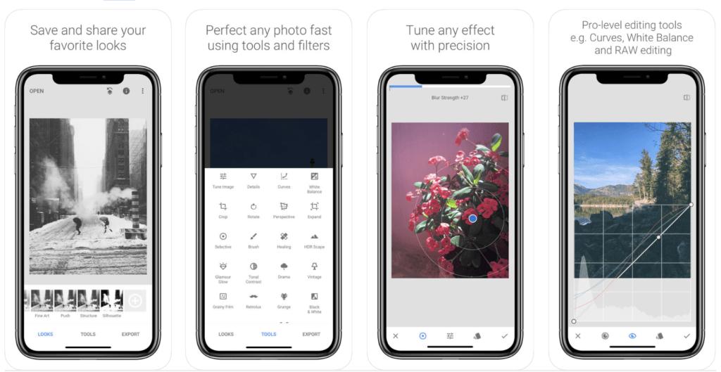 A Google Snapseed iphone képszerkesztő rengeteg funkcióval rendelkezik és versenyképes asztali fotószerkesztőkkel rendelkezik-kepszerkesztok.com
