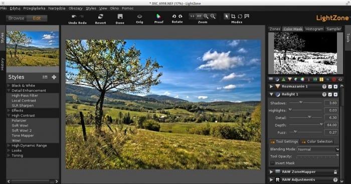 A LightZone a fényképek szerkesztésének roncsolásmentes módját kínálja