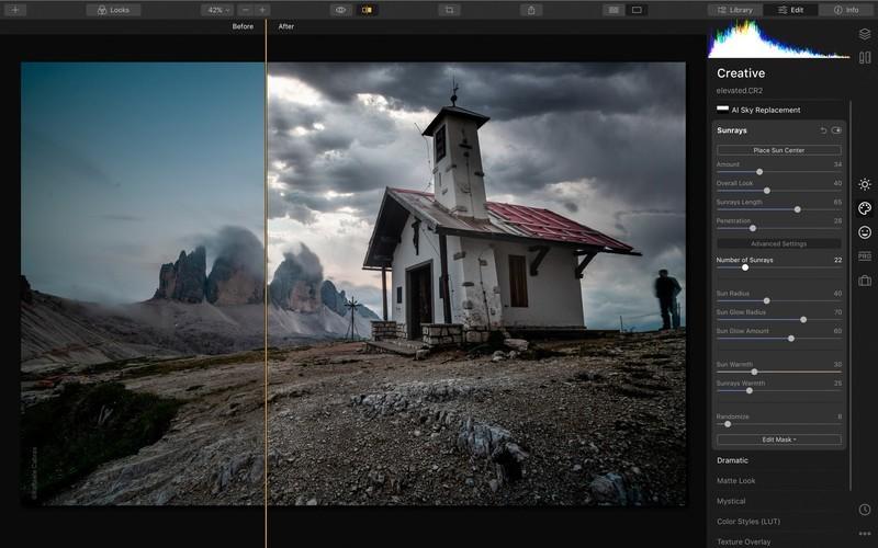 A Luminar élvonalbeli AI technológiákat használ a fényképek automatikus szerkesztéséhez