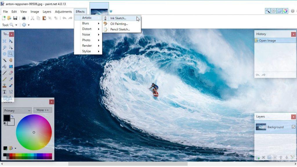 A Paint.NET az egyik legjobb PC-s képszerkesztő szoftver, amely teljesen ingyenes
