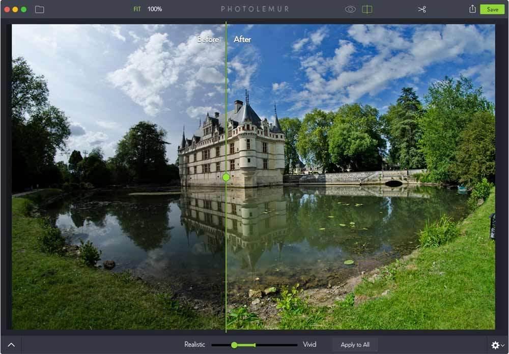 A Photolemur egy másik teljesen automatikus képszerkesztő alkalmazás
