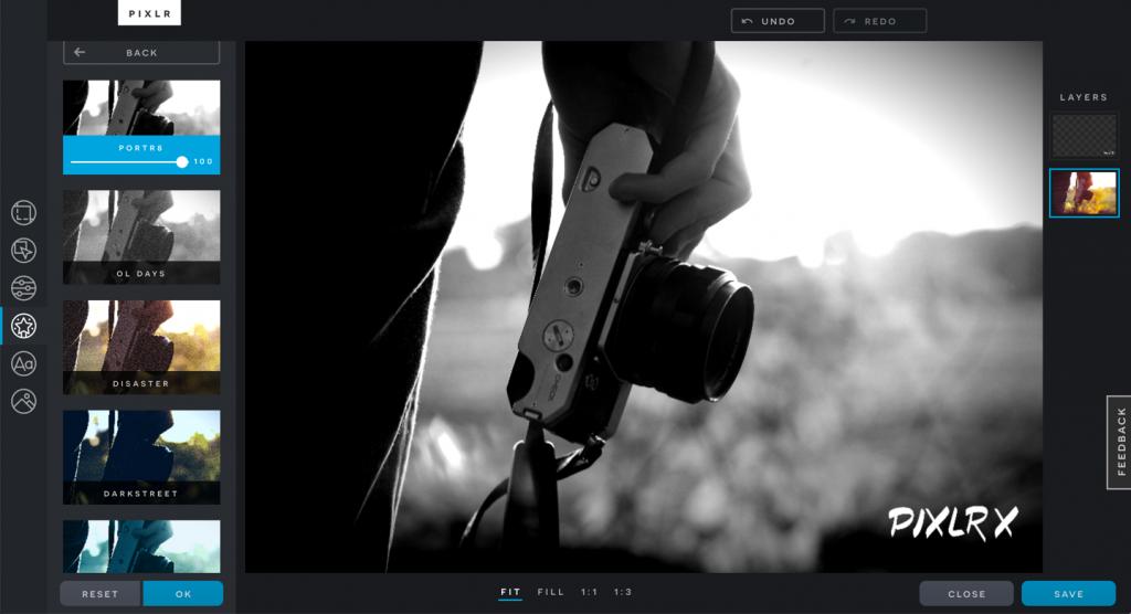 A Pixlr egy maroknyi egyedi funkciót kínál a szerkesztési folyamat optimalizálásához.