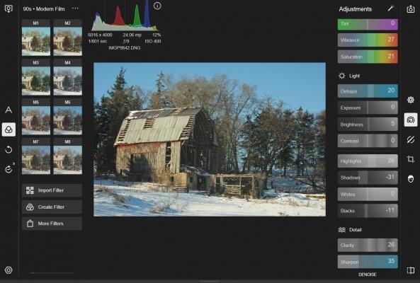 A Polarr egy böngészőalapú szoftver, amely a fejlett képszerkesztő eszközök teljes választékát kínálja