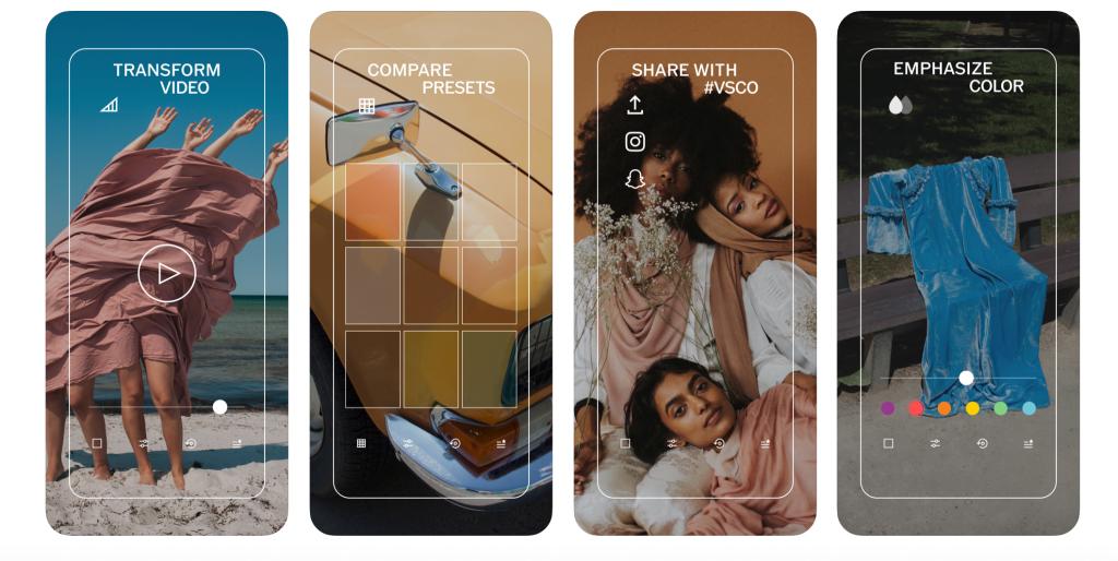 A VSCO iphone képszerkesztő segítségével beállíthatod az expozíciót, a kontrasztot, a hőmérsékletet vagy a bőrszínt is
