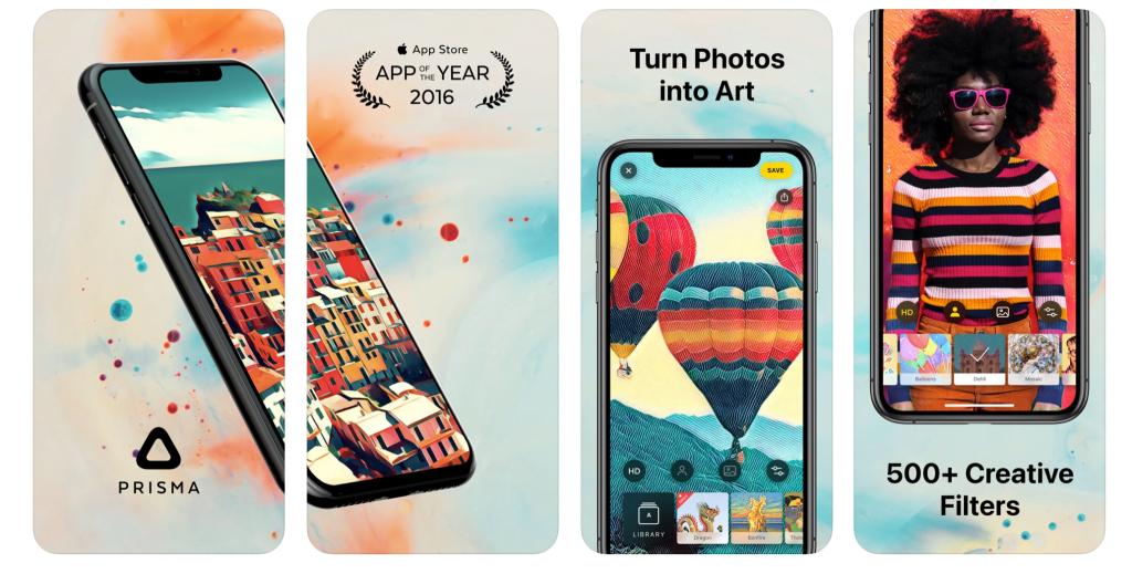 Prisma Photo Editor iphone képszerkesztő ingyenes képszerkesztő alkalmazás mesterséges neuronhálózatokat használ